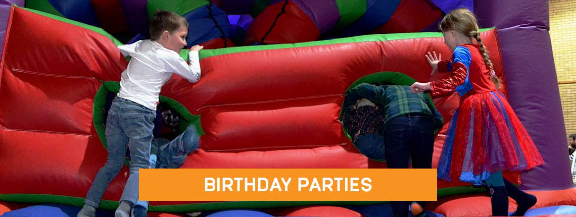 Childrens birthday parties with a giant inflatable in Coxhoe