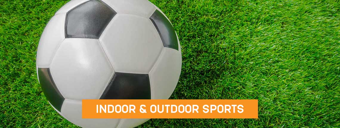 Play football at Coxhoe leisure centre, indoor and outdoor pitches